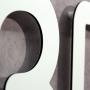 3D buchstaben Alumniumverbund detail